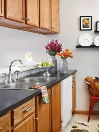 stain colors for oak kitchen cabinets painting oak cabinets q a better homes gardens