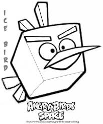 ice bird in angry bird space coloring page kids play color inside