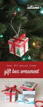 easy diy gift box christmas ornaments from the dollar store