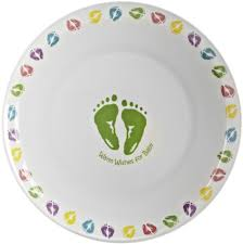 baby shower autograph plate melamine signature plate with baby decoration available at