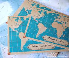 theme wedding invitations wedding invitations map theme