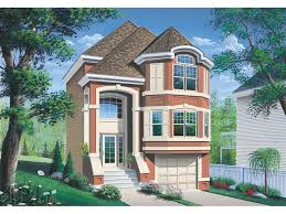 narrow house plans with garage comstock narrow lot townhouse plan 032d 0619 house plans and more