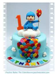 pocoyo cake toppers pauline bakes the cake hola it s pocoyo up up away with