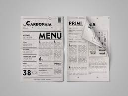 la carbonaia restaurant menu graphic design project the rookies