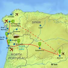 Iberia Route Map by North West Spain And Portugal Caminos Touring Holidays