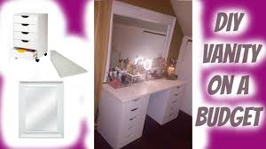 Ikea Makeup Vanity by Diy Vanity Ikea Dupe Under 100 Makeup Collection Dec 2015