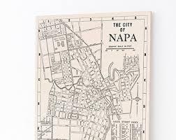 california map napa napa valley map etsy