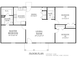 Ranch Home Floor Plan One Story House Plans With Open Floor 14 Classy Design Ideas Ranch
