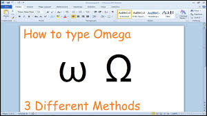 how to type omega symbol microsoft word