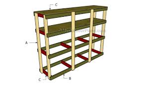 Building Wood Shelves In Shed by How To Build Garden Shelves Myoutdoorplans Free Woodworking