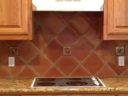 8 inch saltillo terra cotta tile used in a classic kitchen back