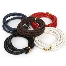 make bracelet with leather cord images 5m lot flat braided cord leather braiding rope thread string diy jpg