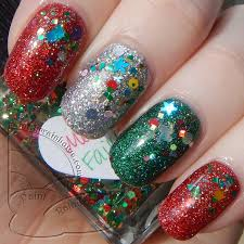 paint the rainbows 彡 merry christmas nails