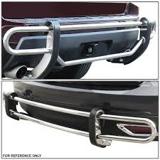 nissan rogue exterior 13 nissan rogue stainless steel double bar rear bumper protector
