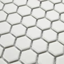 aliexpress com buy white color hexagon ceramic mosaic