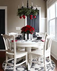 Christmas Table Decorations Blue And White by Table Decoration For Christmas Round Back Dining Chairs Blue And