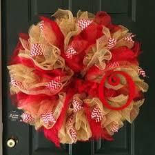 deco paper mesh deco mesh wreath burlap wreath ruffle wreath initial wreath