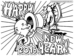 happy new year greetings printable coloring pages and worksheets