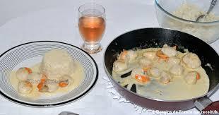 cuisiner coquilles jacques congelees recette noix de jacques à la crème sur recoin fr