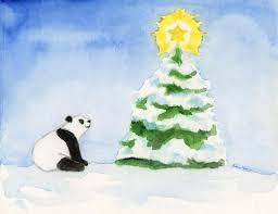 panda bear friends merry christmas greeting cards panda monium