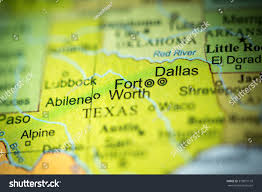 Fort Worth Map Closeup Fort Worth Texas On Political Stock Photo 373871110