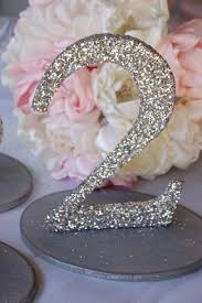 silver wedding table numbers 20 diy wedding table number ideas diy wedding table numbers