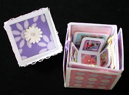 photo album box printable tutorial exploding box mini album