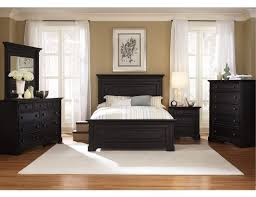 Bed Sets Black The Furniture Black Rubbed Finished Bedroom Set With Panel Bed