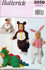 butterick 3050 infant baby bunny panda bear dalmation alligator