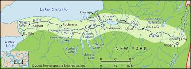 map of the erie canal erie canal location students britannica homework help