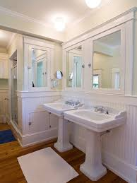 built in bathroom mirror pictures of elegant beadboard bathroom ideas to decorate your new