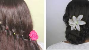 hairstyle joora video party hairstyle waterfall braid and bun with braid video