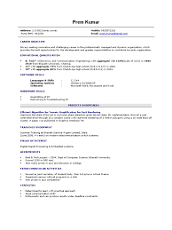 Lecturers Resume For Freshers Bsc Computer Science Resume Format Free Resume Example And