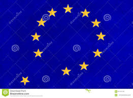 Flag You Down European Union Flag Falling Apart Stock Illustration
