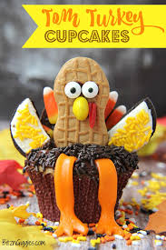 tom turkey cupcakes the cutest thanksgiving dessert that will