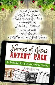 names of jesus advent calendar and christmas pack advent jesus