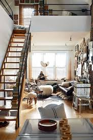Bedroom Loft Designs This Staircase In The Middle Of A Chic Little Urban Loft Looks So
