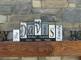 Decorative Letter Blocks For Home Family Name Block Letters Home Decor Unique Custom Gift