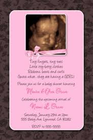 pink and brown baby shower pink brown floral damask baby shower invitation with bow