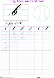 cursive small letter u0027b u0027 worksheet
