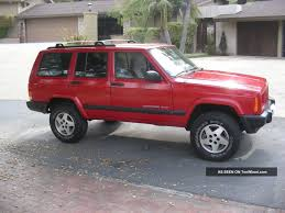 red jeep cherokee 1999 jeep cherokee information and photos zombiedrive