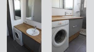 meuble de salle de bain avec meuble de cuisine agencement d une salle de bain avec un lave linge atlantic bain