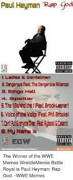 Rap God Meme - paul heyman rap god parental advisory 1 ladies gentelmen 2 dangerous