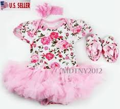 newborn infant baby romper tutu dress sets 3pcs