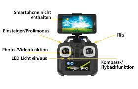 f1x altitude drone hd compass flyback turbo jamara shop