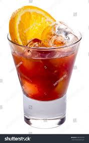 campari orange alcoholic cocktail negroni martini campari gin stock photo