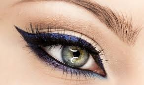 eid golden blue eyes makeup tutorial we will start with dark blue eye kohl pencil you