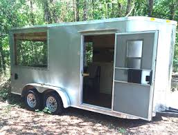 cargo trailer converted into tiny house youtube