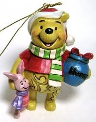 winnie the pooh in scarf with piglet ornament jim shore from our