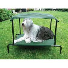 Washable Dog Beds Elevated Canvas Dog Bed Canopy Shade Raised Indoor Outdoor